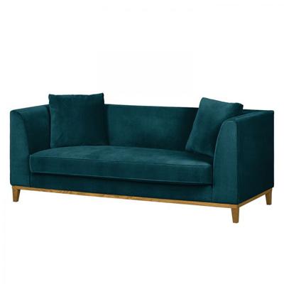 Turkusowa sofa LILY klasyczna sofa trzyosobowa
