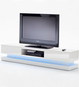 CYNK biała szafka RTV wysoki połysk