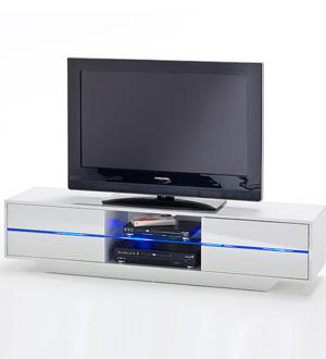 JAZZ biała szafka RTV na wysoki połsyk