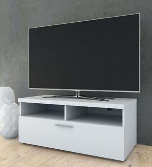 NAPOLI 1 biała szafka RTV – biały