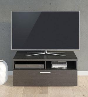 NAPOLI 1 czarna szafka RTV - czarny