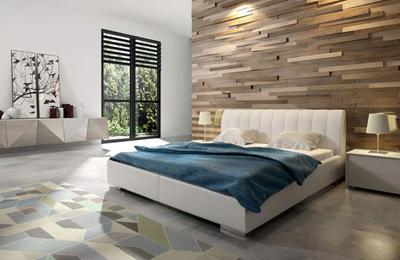 ORINOKO łóżko tapicerowane 120 cm z pojemnikiem – 120 cm \ beżowy