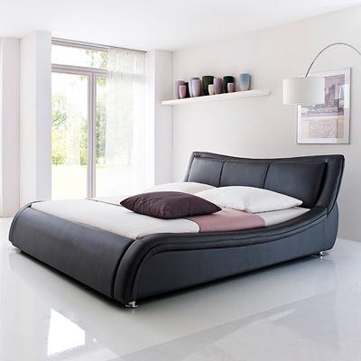SOMA łóżko tapicerowane 180 cm – czarny