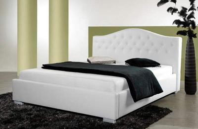 PRINCESS łóżko tapicerowane 160 cm z pojemnikiem – 160 cm \ biały