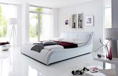 SILVA łóżko tapicerowane 160 cm – biały
