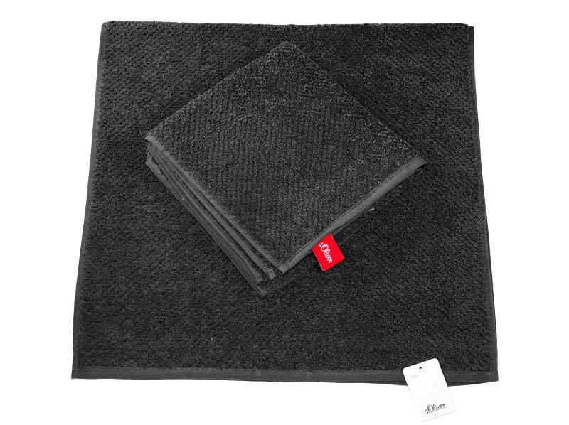 Czarny ręcznik 140X70 CM gladki