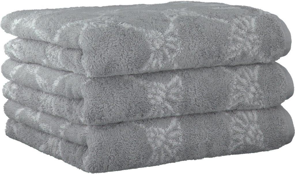 Miękki ręcznik 3 szt 50x100 cm szary