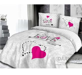 """Komplet pościeli z bawełny """"LOVE"""" 200×220"""