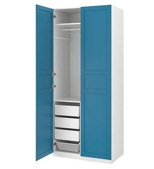 Szafa niebieska dwudrzwiowa Pax Ikea