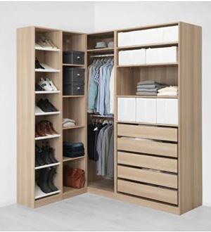 Szafa narożna z półkami i szufladami dąb Pax Ikea