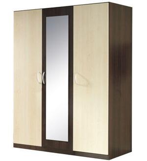 Szafa 3-drzwiowa 151cm Venge Kasztan/Dąb Sonoma 19