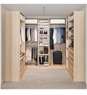 Szafa narożna z półkami i szufladami garderoba Pax Ikea