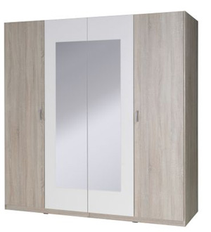 San szafa 4-drzwiowa z lustrem