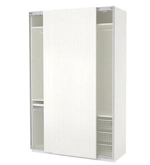 Biała szafa drzwi przesuwne Pax Ikea