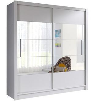 Roma biała szafa 2-drzwiowa z lustrem 180 cm