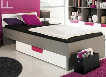 Łóżko młodzieżowe Libelle z wkładem i szufladą