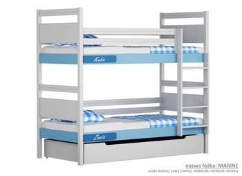 Łóżko piętrowe dla dzieci niebieskie