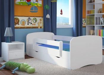 Łóżko dziecięce BabyDreams białe 180/80