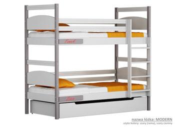 Łóżko piętrowe dla dzieci szare