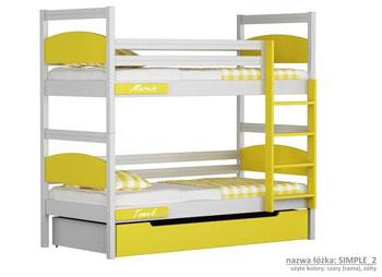 Łóżko piętrowe dla dzieci zielone