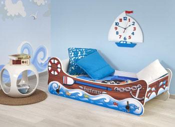 Łóżko łódka dla chłopca z funkcją kołyski