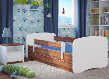 Łóżko dziecięce BabyDreams z barierką 140X70 białe