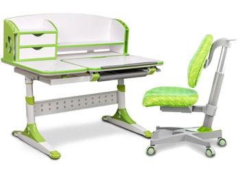 Zestaw dziecięcy biurko z pochylanym blatem i krzesło