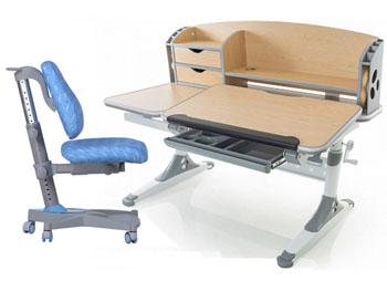 Regulowane biurko dla dziecka z nadstawką i pochylanym blatem