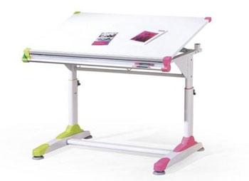 Nowoczesne biurko dziecięce regulowane Collorido dla dziewczynki
