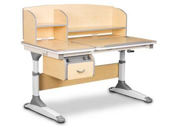 Dziecięce biurko z pochylanym blatem i nadstawką
