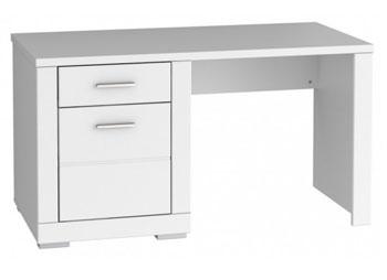Białe biurko z szufladami młodzieżowe 21 Snow