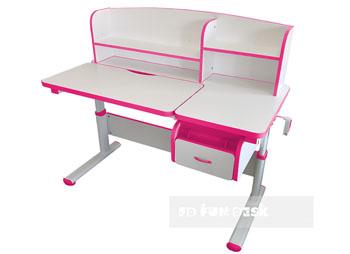 biurko z uchylnym blatem dla dziecka Creare różowe