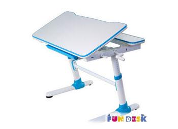 Dziecięce biurko z regulacją Carezza niebieskie