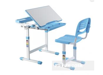 Dziecięce  biurko regulowane plus krzesło Cantare niebieskie
