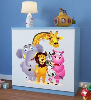 Komoda dziecięca BabyDreams z obrazkiem i szufladami