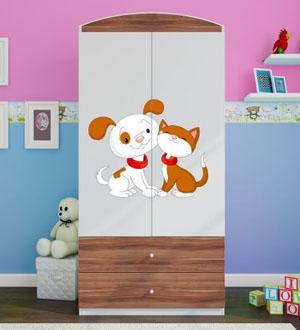 Szafa dla dziecka dwudrzwiowa BabyDreams z obrazkiem