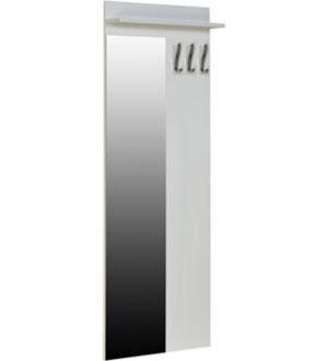 Wieszak wiszący wysoki z lustrem biały SLW 45LF