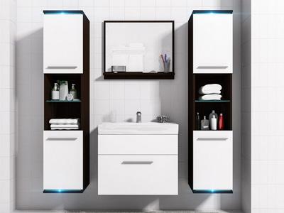 Zestaw mebli łazienkowych DUO 5 MEBLINE białe fronty