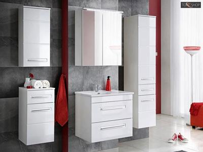 Białe meble łazienkowe z połyskiem active cfp60
