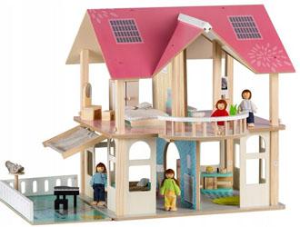 Drewniany domek dla lalek Modern
