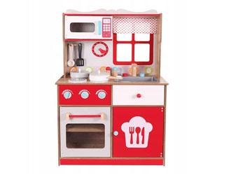 Drewniana kuchnia dziecięca kuchenka zestaw Ecotoys