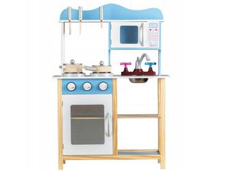 Drewniana kuchnia kuchenka dla dzieci zestaw Ecotoys