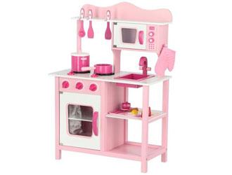 Kuchnia drewniana dla dzieci + akcesoria Classic - różowa