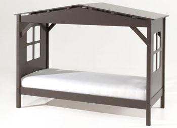 Łóżko dziecięce domek pojedyncze Pino brąz