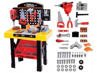 Zabawkowy warsztat małego majsterkowicza - dla dzieci 47w1 z wiertarką Z01