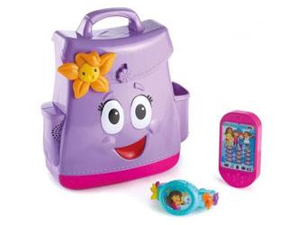 Fisher Price Dora i przyjaciele Mówiący plecak i magiczna bransoletka