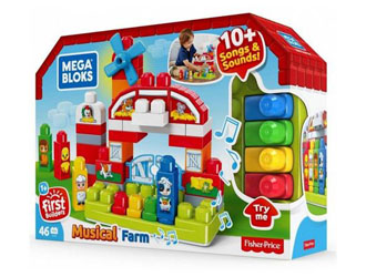 Zestaw klocków Muzyczna Farma Mega Bloks