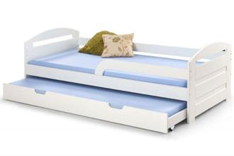 Łóżko dziecięce podwójne wysuwane białe