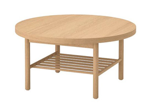 Okrągły stolik kawowy dębowy do salonu
