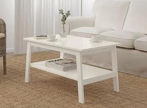 Duży biały stolik do salonu 90x90 cm